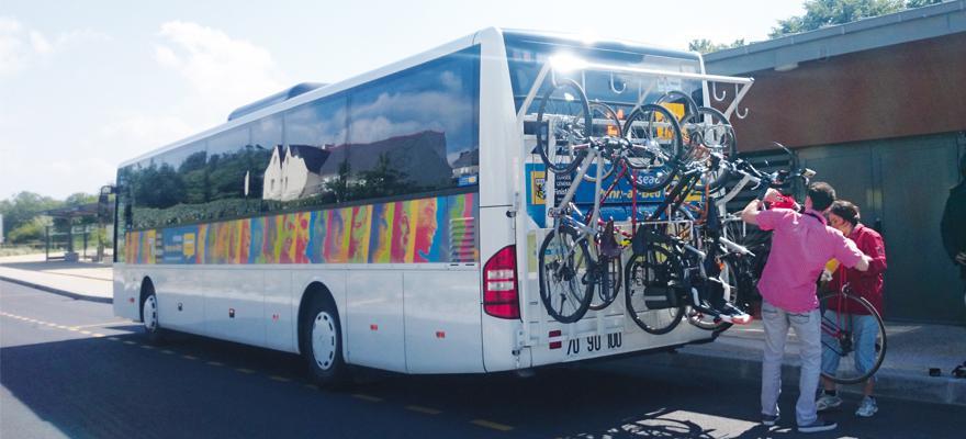 Porte-vélos sur les bus départementaux